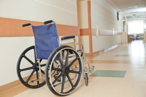 wheelchair for disabled paients in clinic